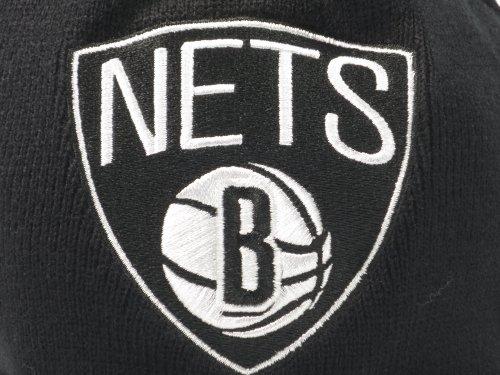 New Mitchell & Ness NBA Brooklyn Nets Cuffed Pom Knit Beanie by Mitchell & Ness (Image #3)