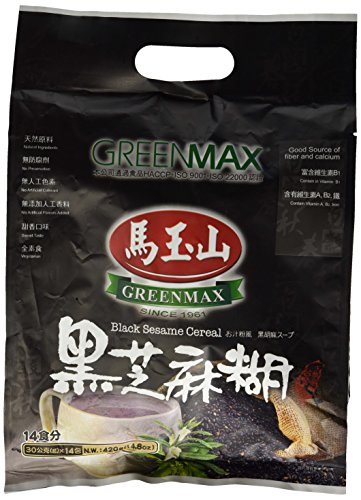 Greenmax (Mayushan) Black Sesame Cereal -Instant , 127 Kcal Per Serving - 14 Servings