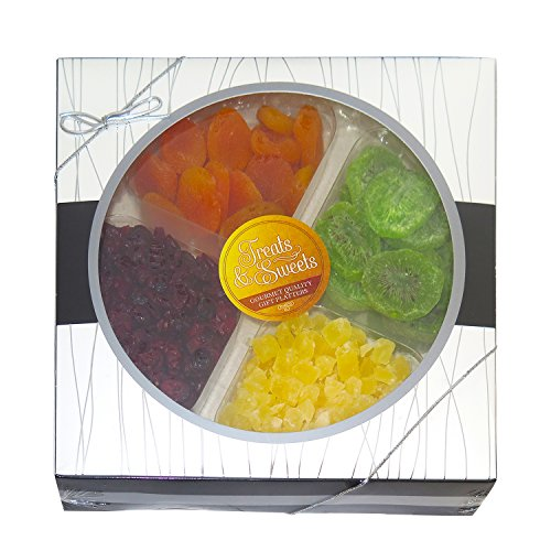 Treats & Sweets Gourmet Kosher Classic Dried Fruits - Includes Dried Cranberries, Dried Apricots, Dried Kiwi & Dried Pineapple - Perfect For all Occasion -In A Beautiful Gift Box