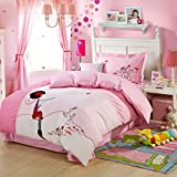 CASA Children 100% cotton series Cushion cover & Sheet & Pillowcases & duvet cover,3 Pieces,Twin