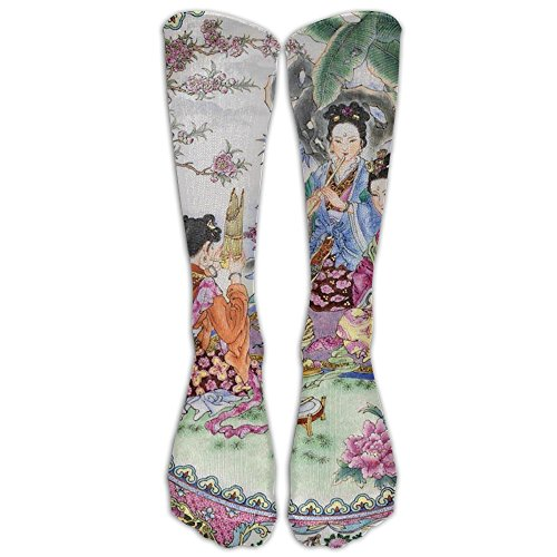 Melodious Garden, Geisha Athletic Tube Stockings Women's Men's Classics Knee High Socks Sport Long Sock One (Geisha Couple Costumes)