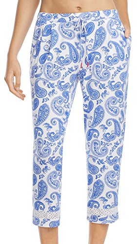 Ellen Tracy Summer Cropped Pant (8618634) S/Paisley (Paisley Cropped Pants)