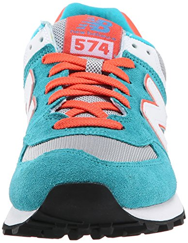 Nieuw Evenwicht Wl574 Damen Sneakers Blau (blauw Atol / Oranje)