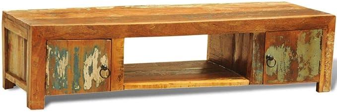 Mueble de televisión de Madera reciclada con Dos Puertas de Estilo ...