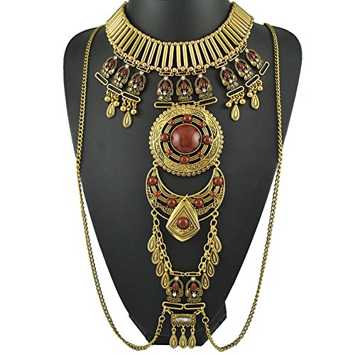 Bohemian Bib Choker Dangle Tassel Charm  - Accessories : Mens Clothing Necklaces Shopping Results