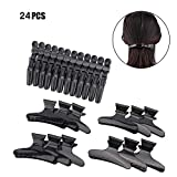 24 Pack Hair Clips, Giveme5 Croc Hair Clips Butterfly Hair Clamps for Salon Hair Coloring, Dying, Blow Drying, Styling, Sectioning Gator Alligator Clips Claw Hair Pins for for Women and Girls, 2 Style
