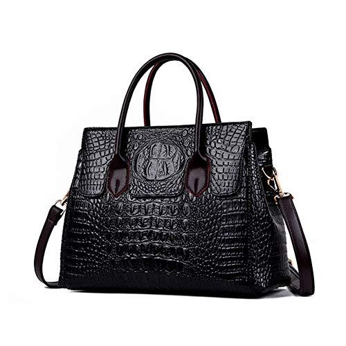 Onzama Women Faux Leather Crocodile Pattern Handbags Top Handle Shoulder Satchel Purse