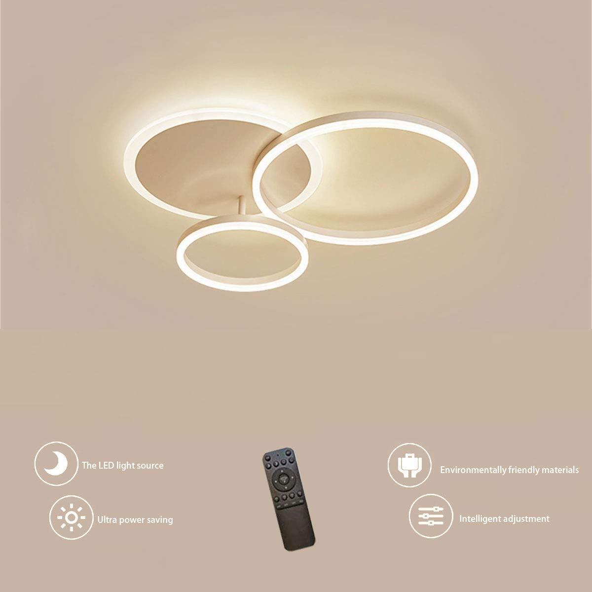 LED Deckenleuchte NINEZ Ring Design Decken Lampe Minimalistisch Fernbedienung Dimmbar Aluminium Acryl Beleuchtung Kinderzimmer Lampe Esszimmerlampe Schlafzimmerlampe Badezimmerlampe Flurlampe