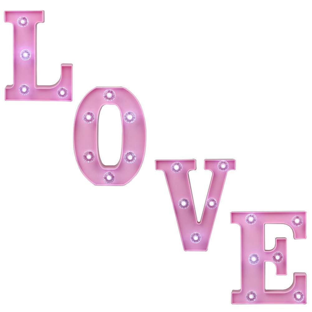 Amazon.com: Pooqla Decorative Illuminated Marquee Love Word Sign ...