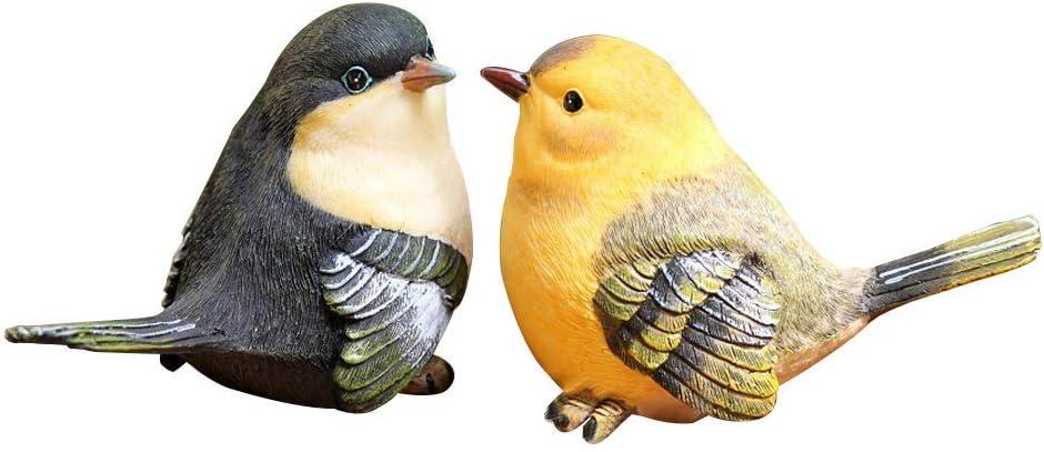 Amazon.com: Estatua de jardín Anewgift – Estatua de pájaros ...