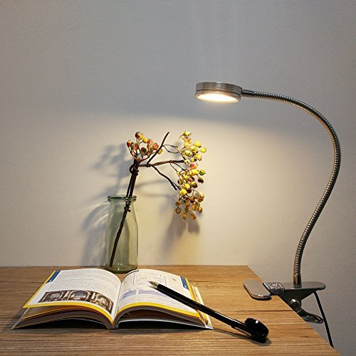 LEPOWER Clip on Light/Clip on Lamp/Light Color Changeable/Night Light Clip on for Desk, Bed Headboard and Computers (Silver) by LEPOWER (Image #8)