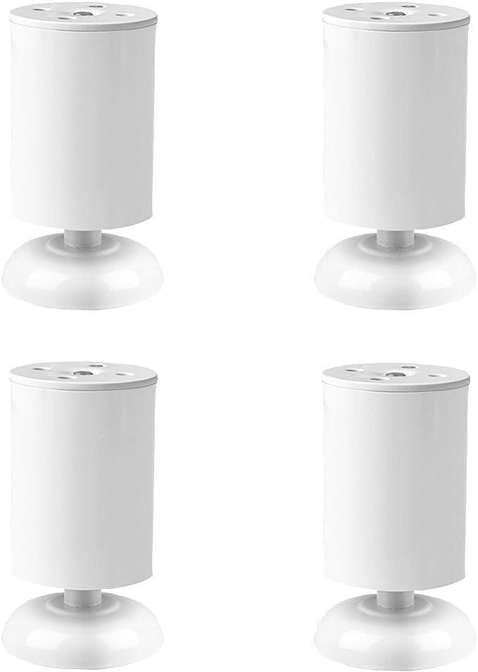 Juego de 4 pedestales para pies de muebles para la fijación de diferentes componentes-Cama Mesa Silla Gabinete Sofá Lounge Reemplazo Patas Pie de armario (Color : Blanco, Tamaño : 12cm): Amazon.es: Bricolaje