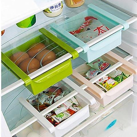 Usstore 1Pcs Storage Box Refrigerator Shelf Storage Rack Food Container Kitchen Tools - Plastic Photo Cube