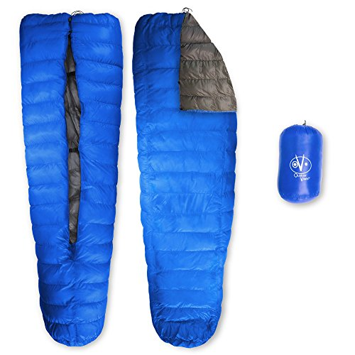 Outdoor Vitals LoftTek 30 Degree Ultralight Backpacking TopQuilt for Use in Hammock or on Pad (Blue,...
