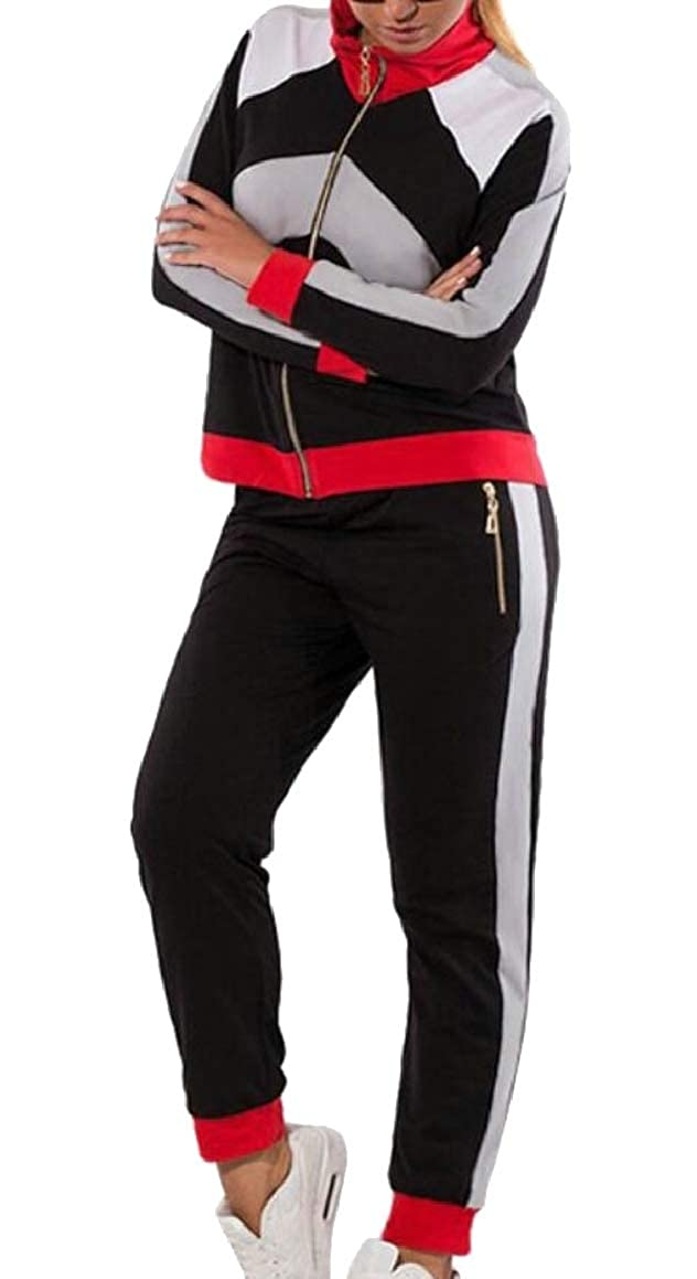 As picture RGCA Women's Fall Sport Tracksuit Long Sleeve Active Jacket and Pants Set