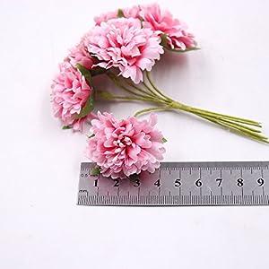 Artificial Flower Roses Wedding Decoration Home Decoration Festivals Party Decorations Silk Daisy Flower 30PCS 4CM (orange) 4