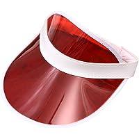 chenpaif Mujeres Hombres Transparente PVC Plástico Sombrero Sombrero