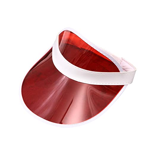 73c45838eb7f1 Amazon.com  Tyjie Unisex Transparent PVC Sun Hats