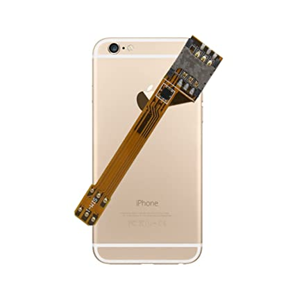 GVKVGIH Dual SIM Adapter Set for iPhone 6S Plus, Ultra-Slim Chip for The Quickest Switching(iPhone 6S Plus)