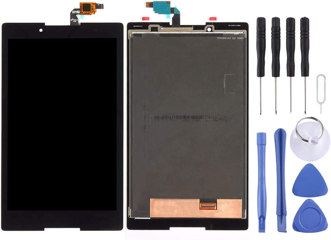 Multifunction LCD Screen and Digitizer Full Assembly for Lenovo Tab3 8 / TB3-850 / TB3-850F / TB3-850M(Black/White) (Color : Black)