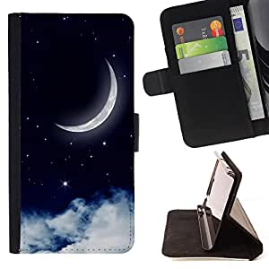 Dragon Case - FOR Samsung Galaxy S4 Mini i9190 - The moon rose - Caja de la carpeta del caso en folio de cuero del tir¨®n de la cubierta protectora Shell