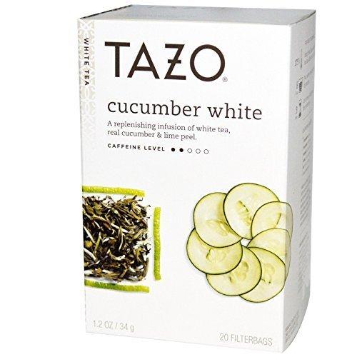 Tazo White Cucumber White Tea, 20-Count Tea Bags (Pack of 6)