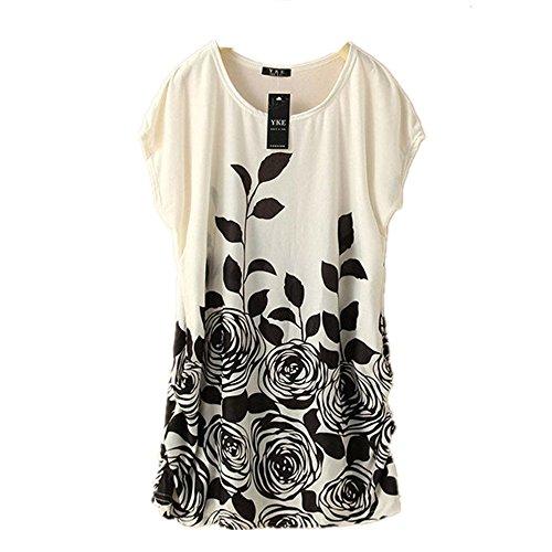 Dress Black Bohemian DATEWORK Loose Women Short Sleeves wYXxUYSqHR