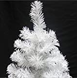 Prettybuy Christmas Tree with Plastic Stand,3-feet,pvc (White)
