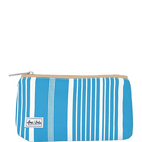 Ame & Lulu Brush It Off Cosmetic Case (Ticking (Ames Stripe)
