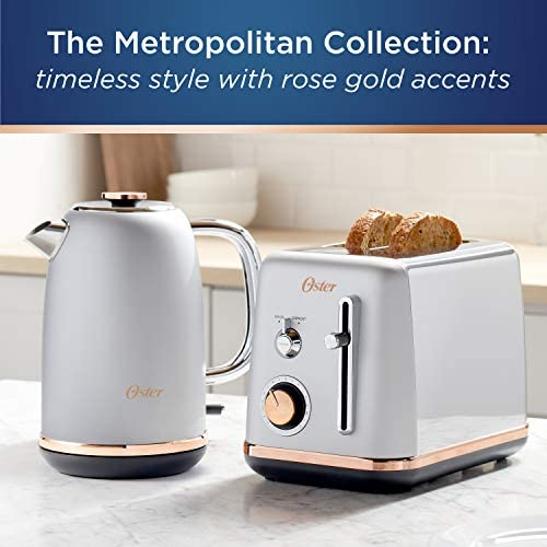 Oster 2097682 2 Slice Toaster Metropolitan Collection with Rose Gold Accents