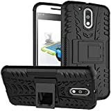 Chevron Shock Proof Back Case For Moto G Plus 4Th Gen (G4 Plus / 4Th Generation Plus) (Black) (Military Grade Rogue Back Cover From Chevron)
