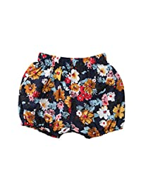 Mericiny Baby Girls Lovely Floral Printed Shorts Cotton Bloomer Spring Summer Toddler Kids 0-4Years