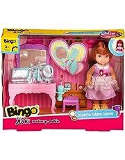 Bingo Koki Doll with Makeup Table, 9 Pieces - Multi Color