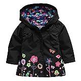 Wennikids Baby Girl Kid Waterproof Floral Hooded