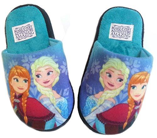 Disney Frozen Hausschuhe ***viele verschiedene MODELLE verfügbar*** Pantoffeln Neu Mädchen Kindergarten Schuhe Gr. 25-32 Türkis
