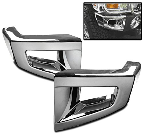 ZMAUTOPARTS For Hummer H3 H3T Front Bumper Corner Cover Trim Frame Molding Chrome