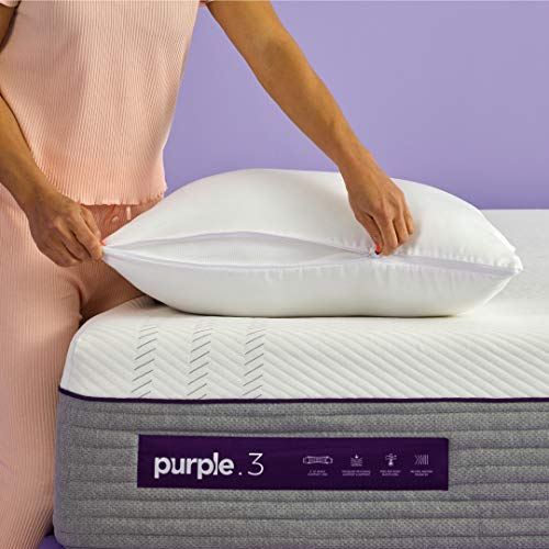 Purple Plush Pillow, Best Cooling Pillow for Sleeping, Adjusts from Firm to Soft -