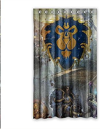 Personalizado VinVin poderoso y dominador el rey del bosque León cortina de ventana de 127 cm x cm 213,36 (una sola pieza), poliuretano, E, 50