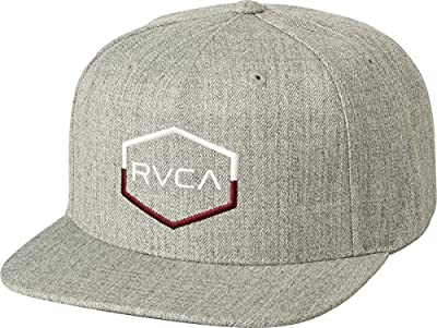 RVCA Men's Commonwealth Snapback Hat, Heather Grey, EA by RVCA