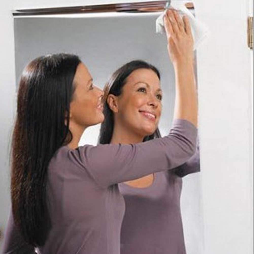 ZHANGSHIBLT Pet Silver Square Mirror Wall Stickers Home Decor calcoman/ías extra/íbles a Prueba de Agua para ba/ño 2pc