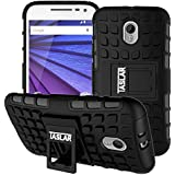 Taslar Dual Layer Armor Series Hard Back Cover Case For Motorola Moto G3 & Moto G Turbo Edition (Black)