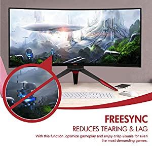 Viotek GN35LD 35 Inch Computer Gaming Monitor 144hz Curved WQHD 2560 x 1080p 21:9 Widescreen High Definition Samsung VA Panel With HDMI DVI DisplayPort For PC Xbox PS4