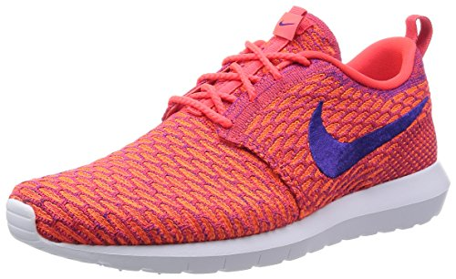 Zapatillas De Running Nike Para Hombre Roshe Nm Flyknit Se Bright Crimson / Court Purple-total Orange