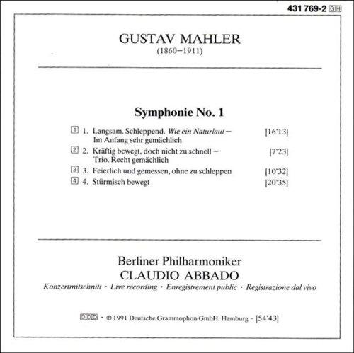 Mahler: Symphony No. 1 by Deutsche Grammophon (Image #2)
