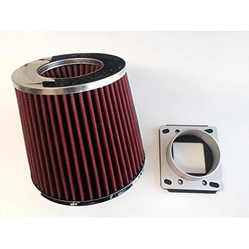 RED Filter Compatible with 97-04 Corvette C5 5.7L V8 R/&L racing Matte Black Dual Short Ram Air Intake Kit