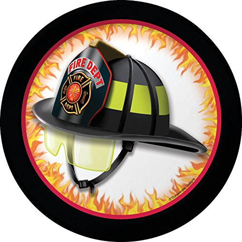 7 Firefighter Plate - Creative Converting 8 Count Fire Watch Sturdy Style Paper Lunch Plates, 7