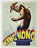 King Kong - Original Poster Movie Tin Sign Nostalgic Retro Funny Vintage Tin Sign Metal Wall Décor Hanging Frame