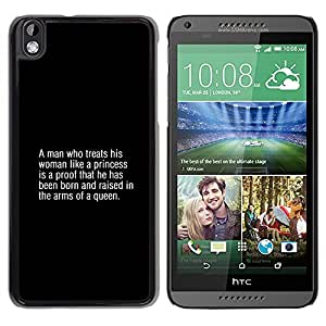 Be Good Phone Accessory // Dura Cáscara cubierta Protectora Caso Carcasa Funda de Protección para HTC DESIRE 816 // queen fashion man text quote truth