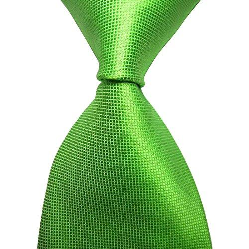 KissTies Mens St. Patrick's Day Tie Green Solid Necktie + Gift Box