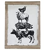 "Barnyard Designs Large Farm Animal Wall Decor Sign, Farmhouse Barn Yard Country Home Decor 31.5"" x 23.5"""